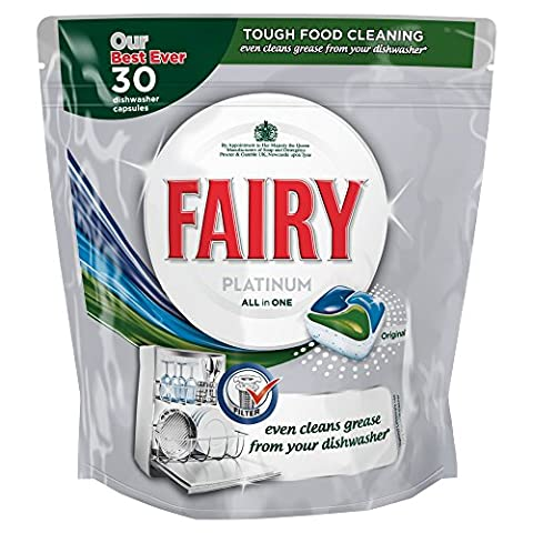 Fairy Platinum Original Dishwasher Tablets, 60 Washes - 2 x 30 Pack