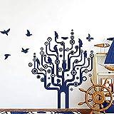 Sticker Mural Informatique Oiseau Geek De Circuit Décoration De Salle De Classe Stickers Salon Cuisine Chambre Papiers Peints Muraux De La Famille 56x48cm