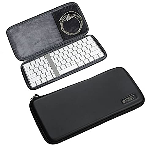 Hermitshell dur de stockage EVA couverture Housse étui de protection et pour Apple Magic Keyboard MLA22LL/A Bluetooth Multi-Device Keyboard iPad/Tablet/Samsung Galaxy Tab/Fire HD/Apple iPad Mini Air Pro/Microsoft Surface