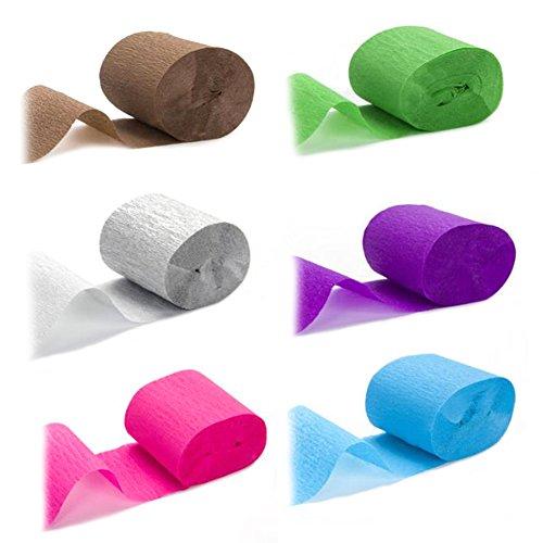LeRan Krepp Papier Luftschlangen für Geburtstag Karneval Party Hochzeit Festival Dekorationen DIY Handwerk zeigen Sie Ihre Phantasie (Rosa Krepp-papier)