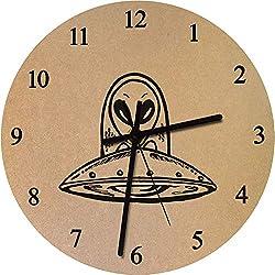 Azeeda 275mm 'OVNI' Reloj de Pared Grande de MDF (CK00015613)