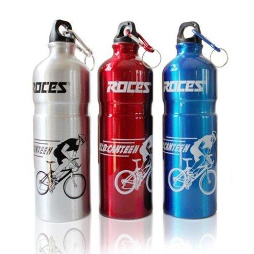 Bottiglia di acqua ROCES alluminio lega biciclette sport Equitazione bollitore 750ml-blu