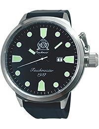 tauchme ister Reloj XXL 58mm de diámetro–PU banda–Doble Corona t0292