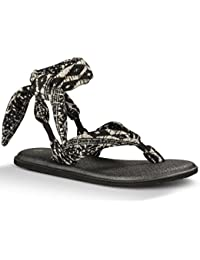 Sanuk Sandal Wmn Yoga Slinged Up Prints black/white/tribal