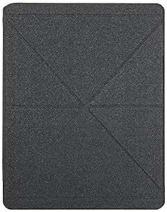 Moshi 99MO056001 iGlaze Versacover Versa Cover Coque iPad 2 3 4 rigide avec rabat / support pliable - coque noire / rabat gris fonc�