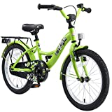 """BIKESTAR Bicicletta Bambini 5-7 Anni Bici Bambino Bambina 18 Pollici Freno a Pattino e Freno a retropedale 18"""" Classico Edition Verde"""