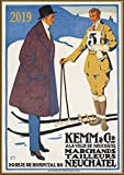 2019 Wall Calendar [12 pages 20x30cm] Carl Moos Ski Sport Vintage European Travel Poster Ads
