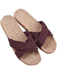 Glissement Unisexe Sur Les Chaussures Slip De Lin De L'humidité Semelle Et Mules Doublure Intérieure Chaussures Pour Hommes En Coton, Taille