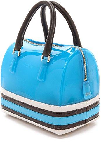FURLA Borsa bowling Candy blu chiaro ATLANTIC + PETALO 30