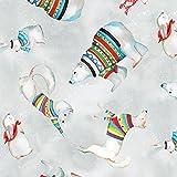 Weihnachten Stoff–Tier Pullover