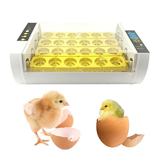 Yunt 24 wachteln Inkubator geflügel Brutmaschine Brutapparat Brutkasten Hühner wachteln vollautomatisch incubator egg 60W