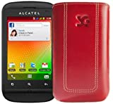 Suncase Original Tasche für Alcatel One Touch 903D Dual-SIM rot