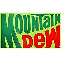 Mountain Dew rund Blechschild Flach Neu aus USA 30x30cm mit Bset