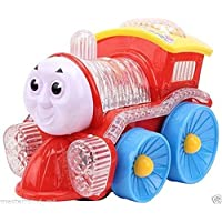 Funny Locomotive Omni Direction Musical Toy Train with Flashing LED Lights (Color May Vary)