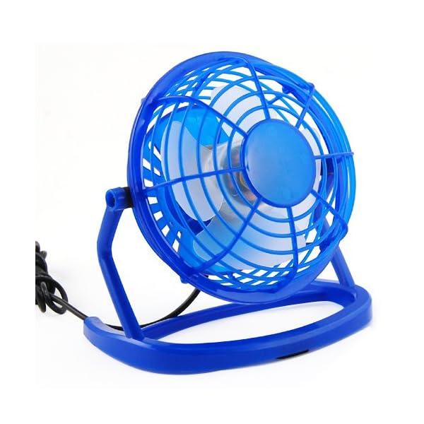 TRIXES-Ventilador-con-Conexin-al-Ordenador-por-USB-para-Sobremesa-Pequeo-Silencioso-Azul-Para-Refrescarse-en-los-Das-Calurosos-en-Una-Clida-Oficina