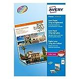 Avery - 2498 - 100 Feuilles de Papier Photo Premium Blanc Brillant - A4 - Impression Laser