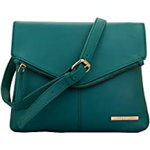Lapis O Lupo Women's Canvas Turquoise Sling Bag(LLSL0011TQ)