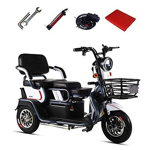Elektro Dreirad Für Senioren, Seniorenmobil Elektroroller Elektromobil Senioren-Scooter Mit Straßenzulassung E-Scooter E-Roller 3-Rad 500W 25Km/H RW 55Km Dreirad,Schwarz