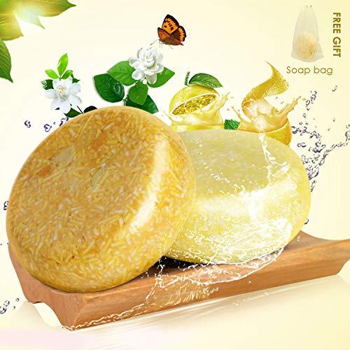 Ucradle Haar Shampoo Bar - Anti Schuppen und Öl-Kontrolle, 100% Natürliches Organisches Pflanzliches Seifenhaar, Haarreinigung und Feuchtigkeitspflege für trockenes und geschädigtes Haar, 2 Packungen - Natürliche Solid Shampoo