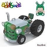 B-Creative Oddbods Action Vehicles-Zee es Green Traktor mit Zee Figur