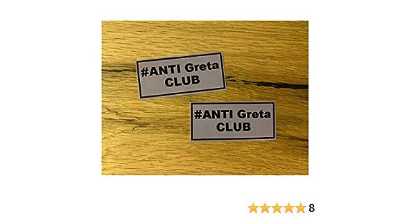 597 2x Greta Aufkleber 7x3cm Sticker No Fridays For Future Hubraum Klima Co2 Steuer Umweltzone Diesel Feinstaub Euro Norm 1 2 3 V8 Auto