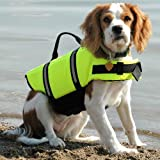 Pinkdose® Green, S: Clothes for Dogs Pet Dog Save Life Jacket Safety Clothes