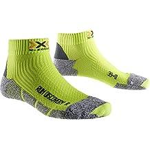 X-Socks Run Discovery New Calza Running, Uomo, Verde (Green Lime/Grey Moulinè), 39/41