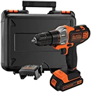 Black+Decker 18V 1.5Ah 10mm Li-Ion Cordless Multi-Evo Multitool Starter Kit with Drill Driver Head for Home, O