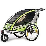 Qeridoo Q3000A-Grün Sportrex 1 Kinder-Fahrradanhänger (1 Kind) - grün thumbnail