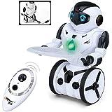 Top Race® Robot de Control Remoto, Robot Inteligente con Equilibrio Automático, 5 Modos de Funcionamiento. Baile, Boxeo, Conducción, Carga, Gesto. Transmisor 2.4Ghz