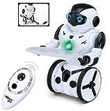Top Race® Robot de Control Remoto, Robot Inteligente de Equilibrio Automático. Este robot de control remoto Top Race, es un robot inteligente con equilibrio automático y 5 modos de funcionamiento realistas: baile, boxeo, conducción, carga, ge...