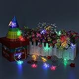 MASUNN batteria Powered 2m 20Leds fiocco di neve Fairy String luce per la festa di Natale Coloré