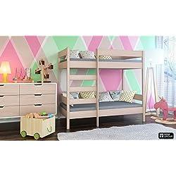Dino niños litera cama frontal entrar en marco de madera Envío libre, madera, Bleached Oak, 180x80x160