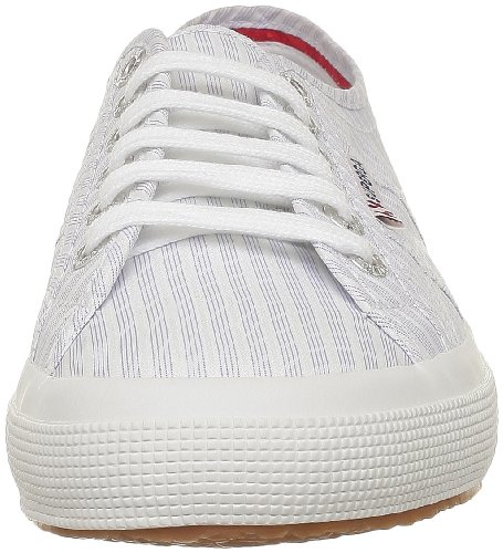 Superga 2750 Cotu Classic, Baskets mixte adulte Bleu (A28 Stripes White Lt Blu)