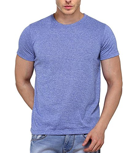 B&W Men's Premium Grindle Round Neck T-Shirt - Royal Blue 6