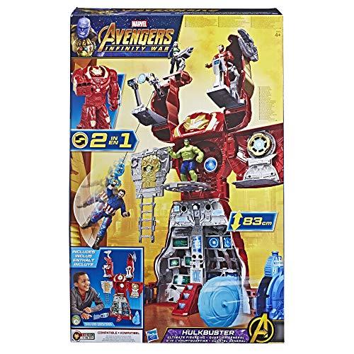 Marvel Avengers - Hulk Buster, Quartier Général 2 en 1 - Figurine - E0565