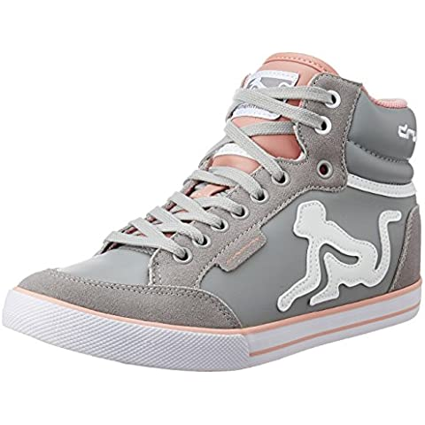 Drunknmunky, BOSTON CLASSIC 304, SNEAKERS DONNA, GREY-ROSE (36)