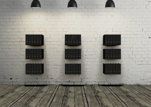 2 x Ordnerregal Bürorregal aus Metall in schwarz für bis zu 28 Ordner