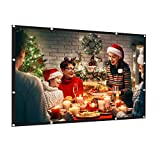 AMWOKE Projector Screen,100 inch Portable Projection Screen...