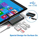 Opluz Hub USB C Adattatore 6-in-1 Tipo c Adattatore 2 Porte USB 3.0 Lettore Schede SD TF/Micro Card Docking Station Adattatore Hub per Microsoft Surface Go