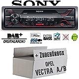 Opel Vectra A+B - Autoradio Radio Sony DSX-A310DAB - DAB+ | MP3/USB - Einbauzubehör - Einbauset