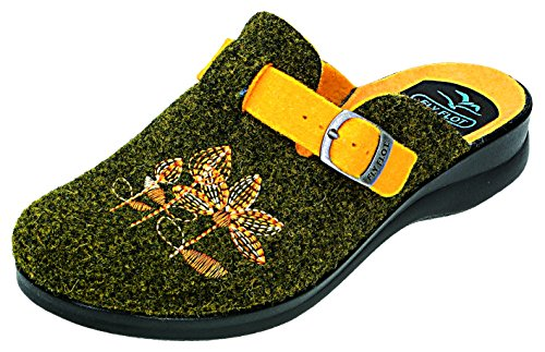 Fly Flot , Chaussons pour femme vert olive Olive