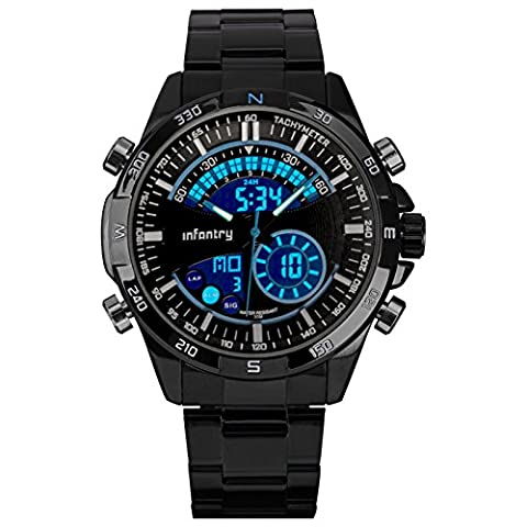 INFANTRY® Herren Analog-Digital Armbanduhr Stoppuhr Alarm Stoppuhr Outdoor Datum Tag