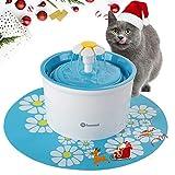 Hommii HP-88 Fuente de Agua para Perros y gatos 1.6L Eléctrico Automático 1.6 L Fuente de Flor Azul Con Tapete Azul