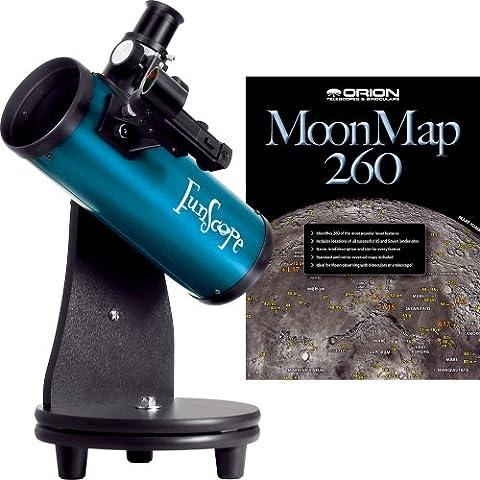 Kit lunar de telescopio reflector de mesa FunScope 76 mm