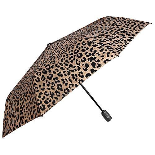 Paraguas Plegable Mujer Animalier   Corto Estampado