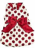 Doggy Dolly FP-D172 Hundekleid rot-weiß gepunktet für Mops und Französische Bulldogge, Größe : S