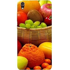 Casotec Fruit Basket Design Hard Back Case Cover for Lenovo S850
