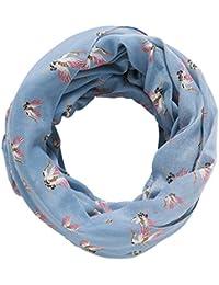 TOM TAILOR DENIM für Frauen Accessoire Schlauch-Schal mit Vogel-Print