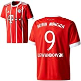 Adidas FC Bayern München FCB Home Trikot 2017 2018 mit Spieler Name rot Farbe Lewandowski, Größe XL